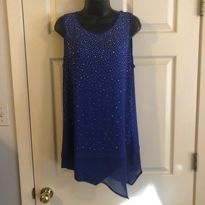 Royal blue top with silver studs